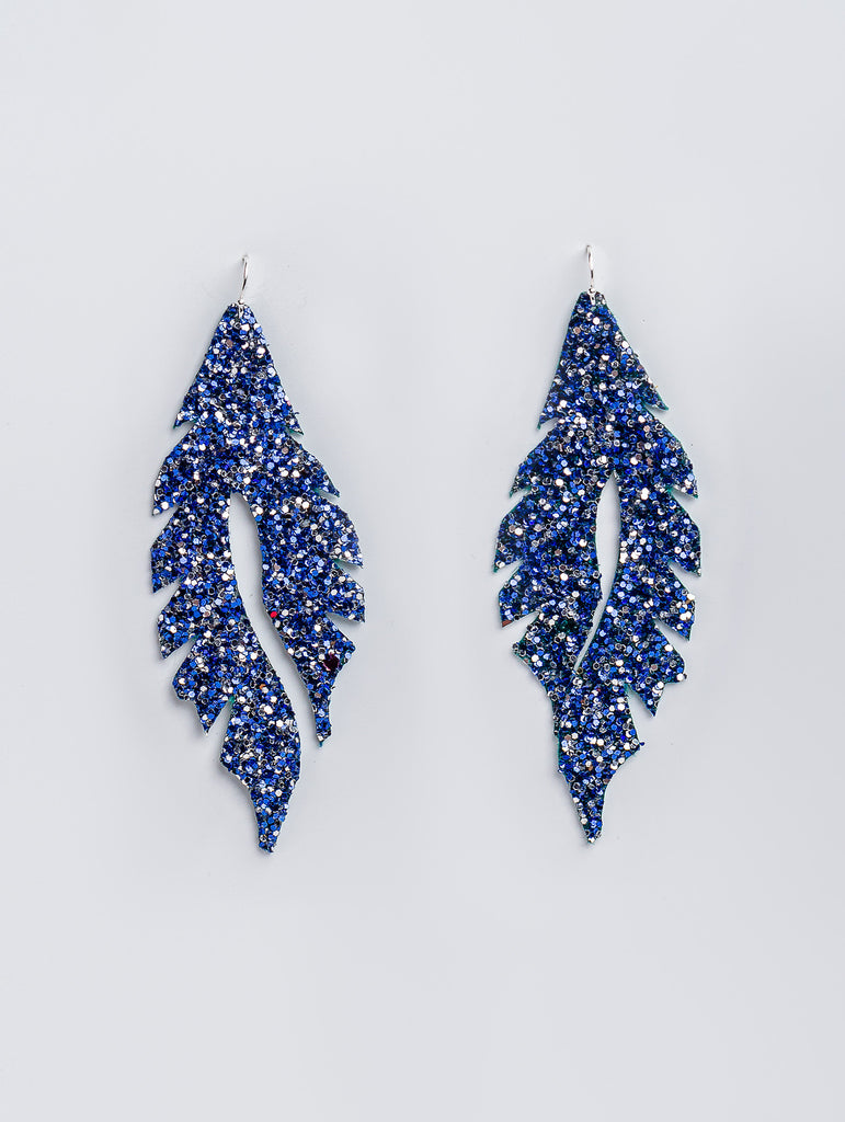 Blue Glitter Feather Minis by Edge of Urge