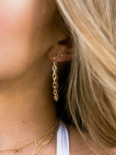 Alicia Chain Hoops