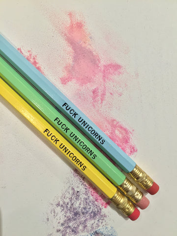 F*CK UNICORNS Pencil Set