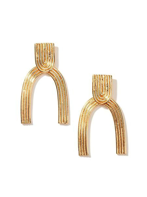 nectar nectar gold arc stud drop earrings