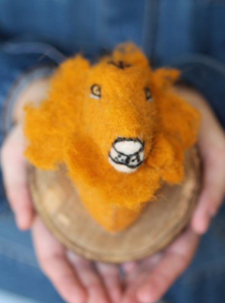 Felted Lion Mount