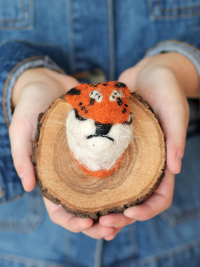 cody foster fake tiger felted trophy