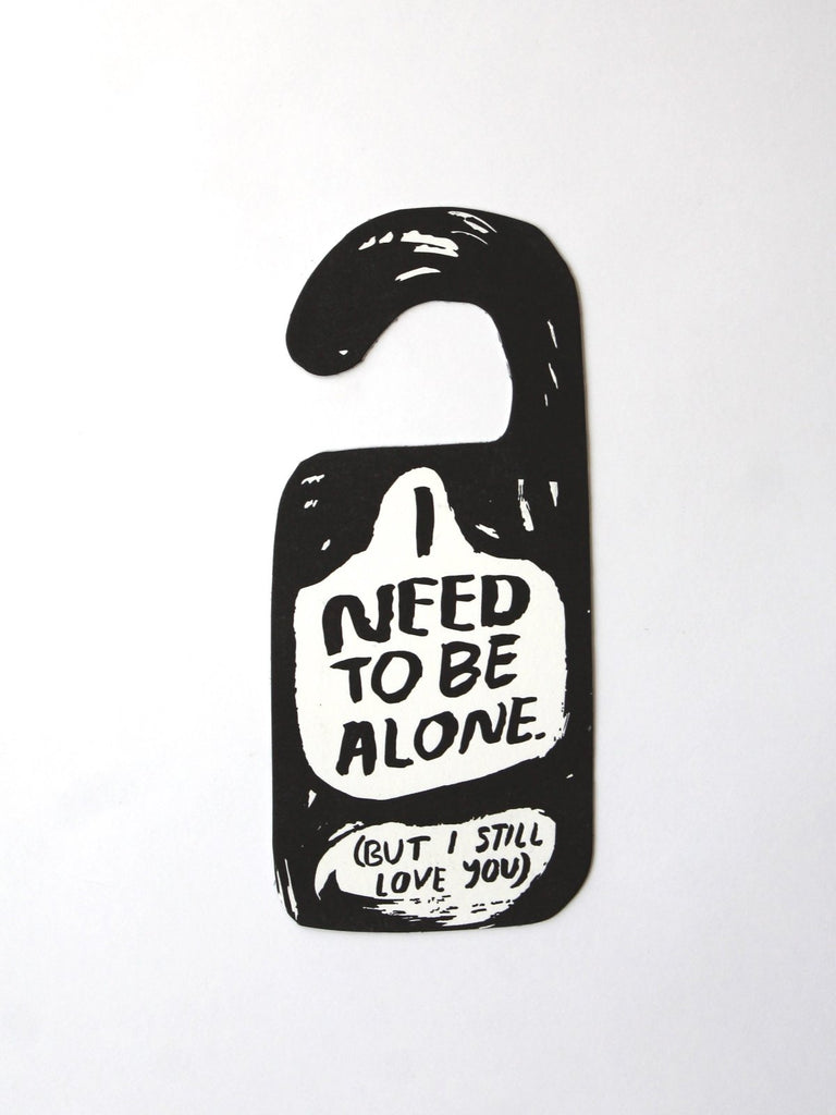 alone time door hanger people i've loved
