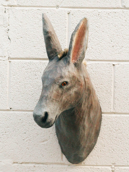 cody foster donkey paper mache fake trophy mount