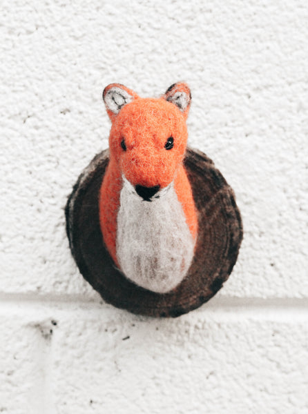 Felted Fox Plaque