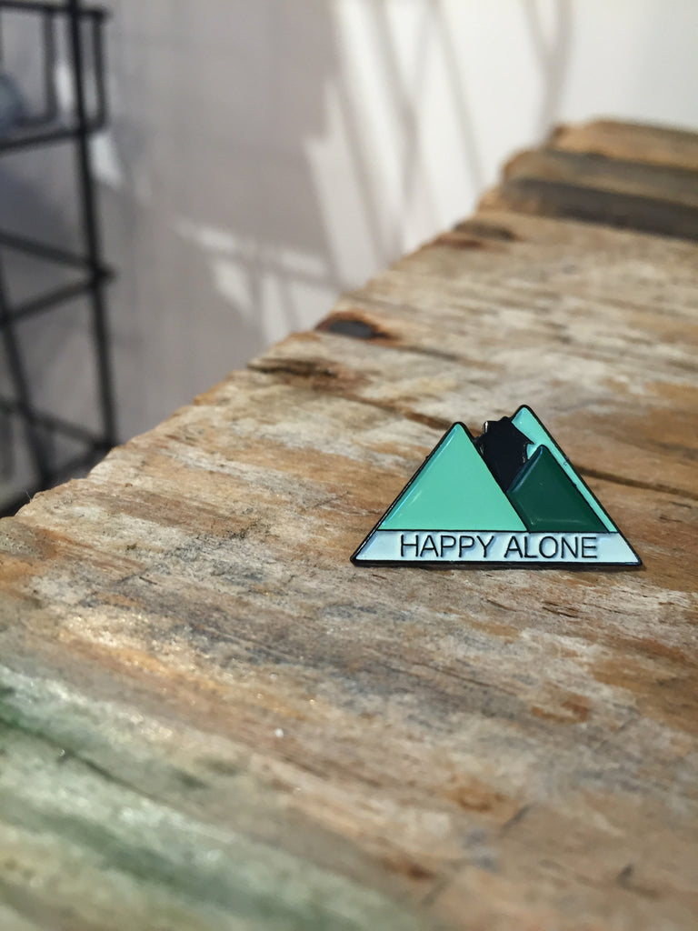 Happy Alone Lapel Pin