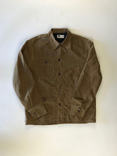 Coverall Jacket: British Waxed Canvas Brown