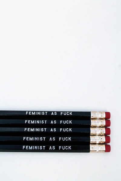 Pencil Set: FEMINIST AS F*CK