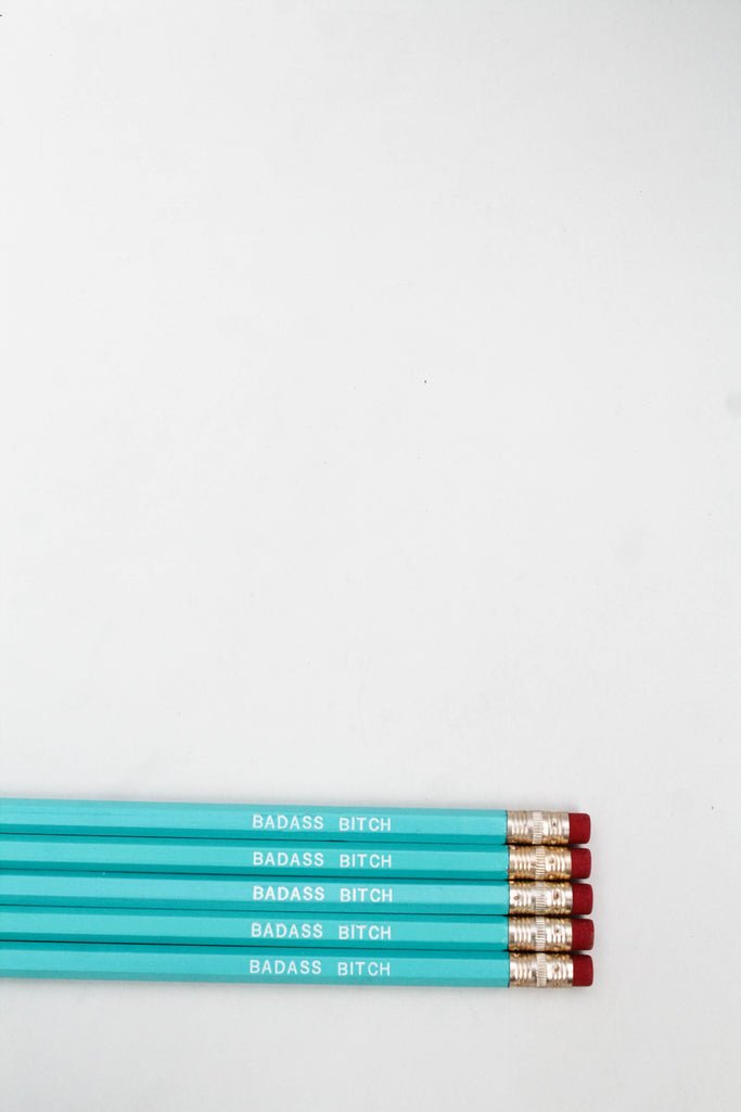 Pencil Set: BADASS B*TCH