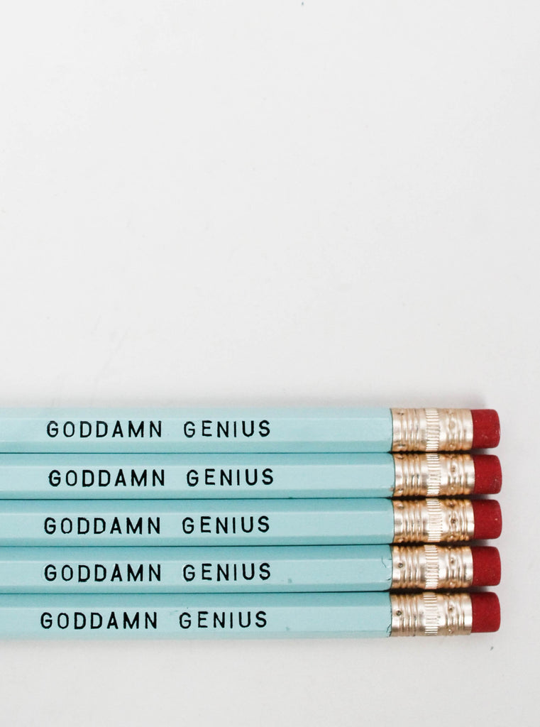 Pencil Set: GODDAMN GENIUS
