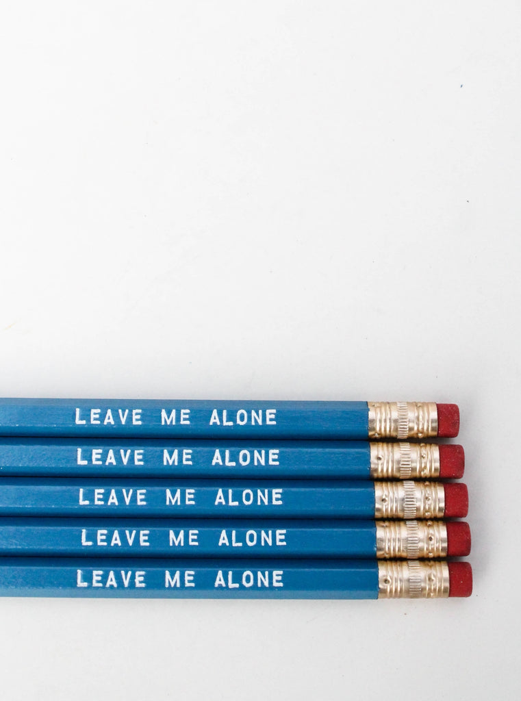 Pencil Set: LEAVE ME ALONE