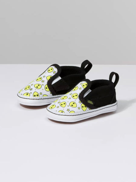 Infant Slip-On V Crib: Alien Stars Evening Primrose/True White