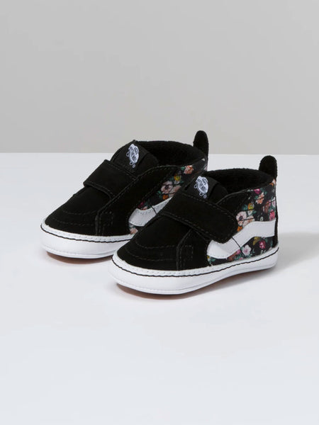 Infant SK8-Hi Crib: Butterfly Floral Black/Black