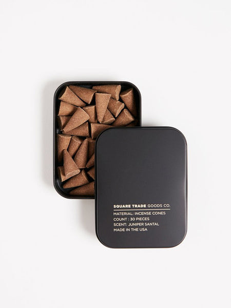 square trade juniper santal incense cones
