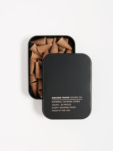 square trade roaring pines incense cones