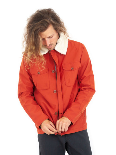 roamers men outerwear jackets stats sienna orange red