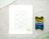 Boucherouite Green Embroidery Kit