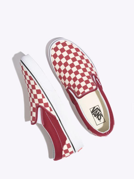 UA Classic Slip-On: Rumba Red Checkerboard