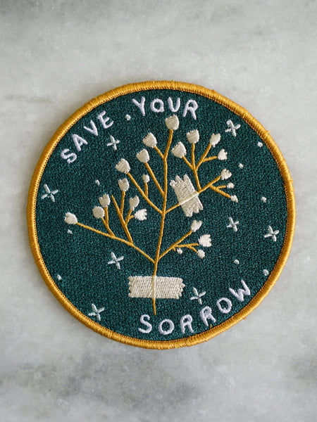 stay home club iron on patch save your sorrow