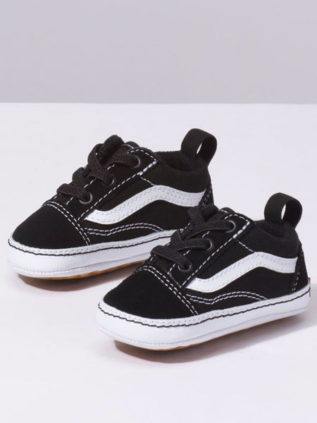 Infant Old Skool Crib: Color Block Black/True White