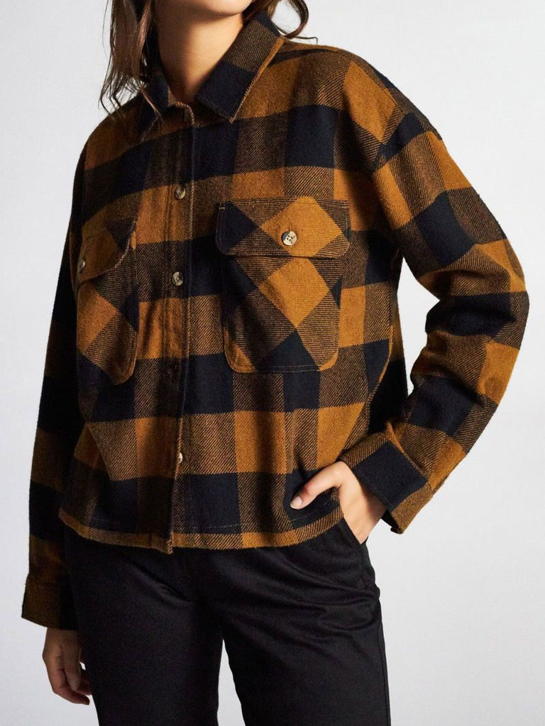 Astoria L/S Flannel: Washed Copper