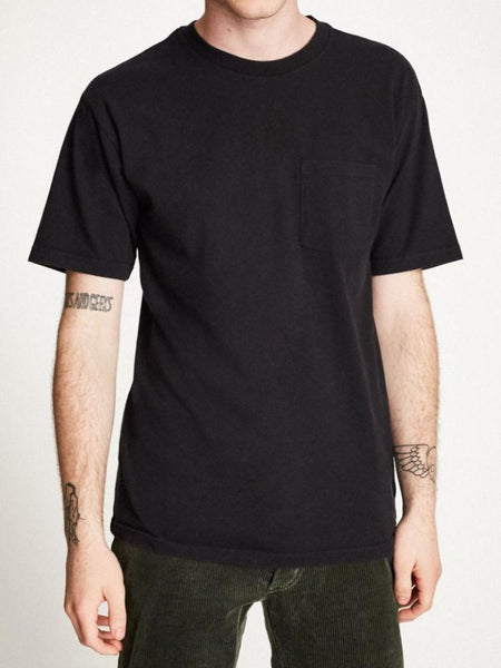 brixton basic tee washed black