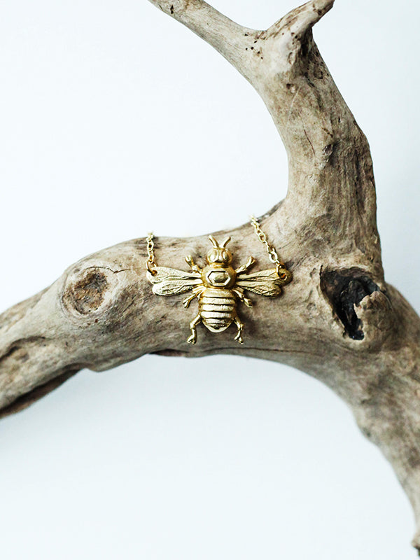 Fancy Creature Necklace: Big Boy Bumblebee