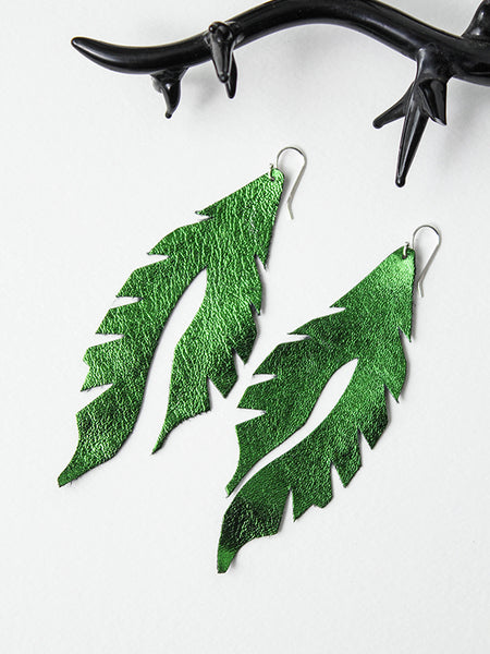Leather Feather Minis: Beetle Green