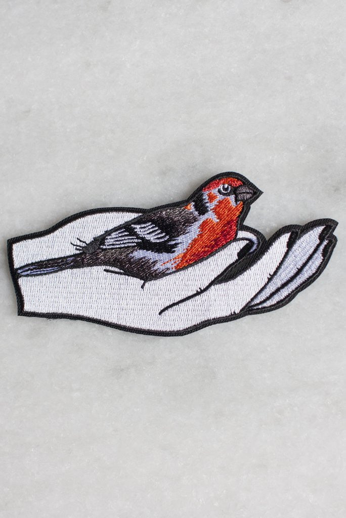 Bird In The Hand Iron-On Patch