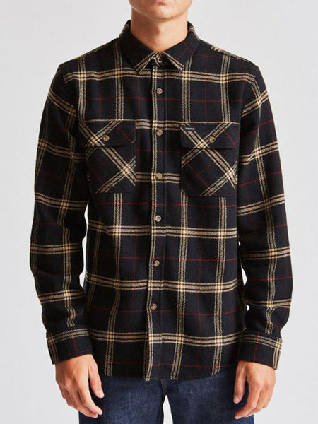 Bowery Flannel: Black/Ivory