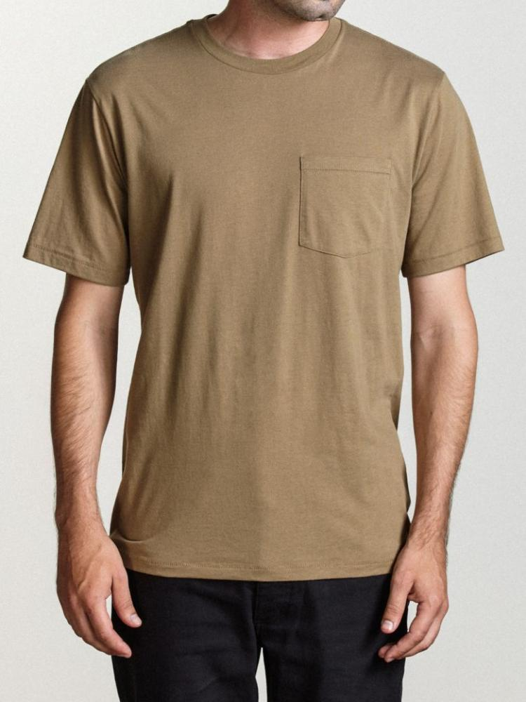 brixton basic premium tee dusty olive short-sleeve shirt t-shirt tshirt men's top