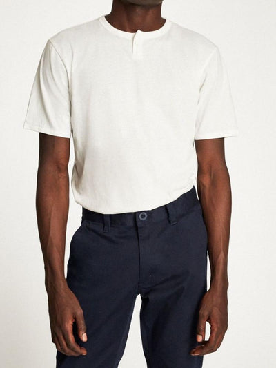brixton basic s/s henley off white short-sleeve men's top