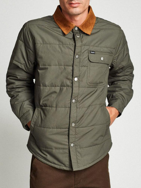 brixton cass jacket pine men's outerwear coat green casual streetwear