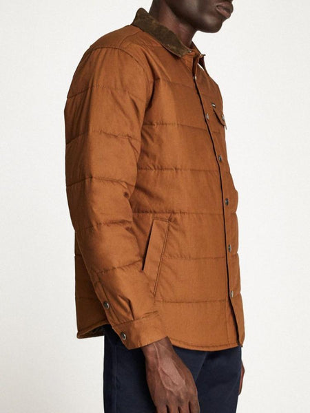 brixton cass jacket sierra men's outerwear coat brown camel casual streetwear