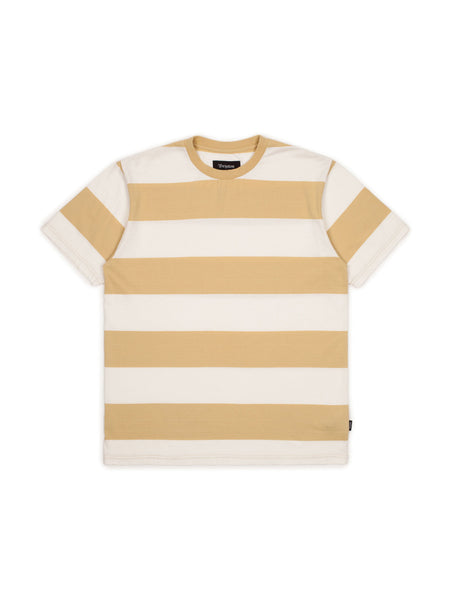brixton corwin washed tee modela striped