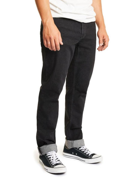 brixton reserve 5 pocket denim black men's jeans