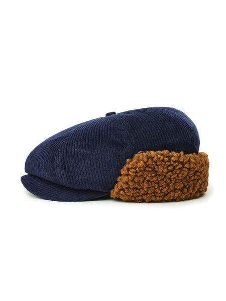 Brood Earflap Snap Cap: Washed Navy