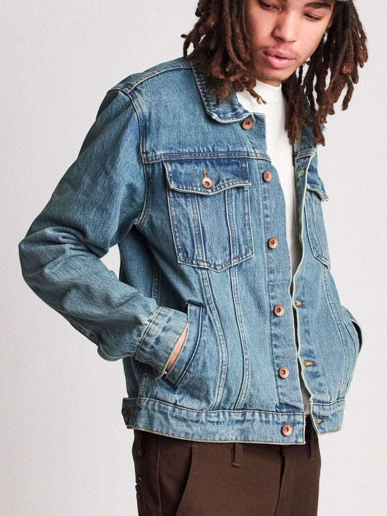 Cable Denim Jacket: Faded Indigo