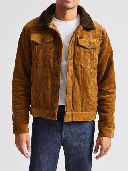 Cable Sherpa Jacket: Brass