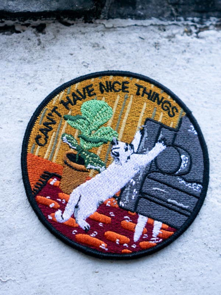 Can't Have Nice Things (Cat) Iron-On Patch
