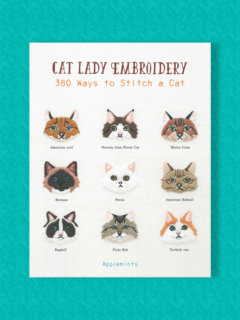 cat lady embroidery book