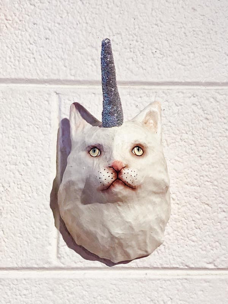 Cat Unicorn Trophy Mount