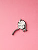 stay home club bathing lapel pin enamel pin cat