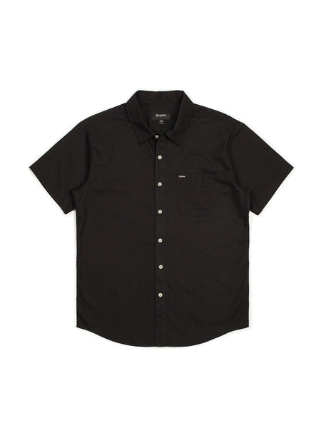 brixton charter oxford s/s short sleeved woven black