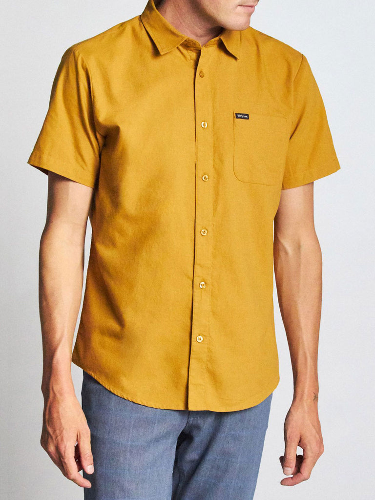 Charter Oxford S/S Woven: Maize
