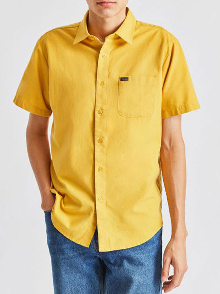 Charter Oxford S/S Woven: Sunset Yellow