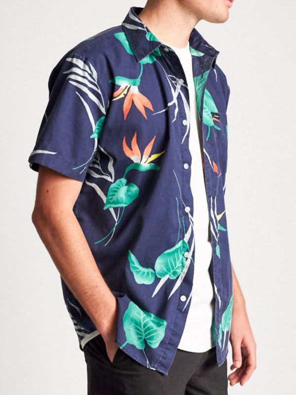 Charter Print S/S Woven: Patriot Blue