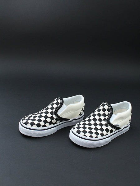 Toddler Checkerboard Slip On: Black/White
