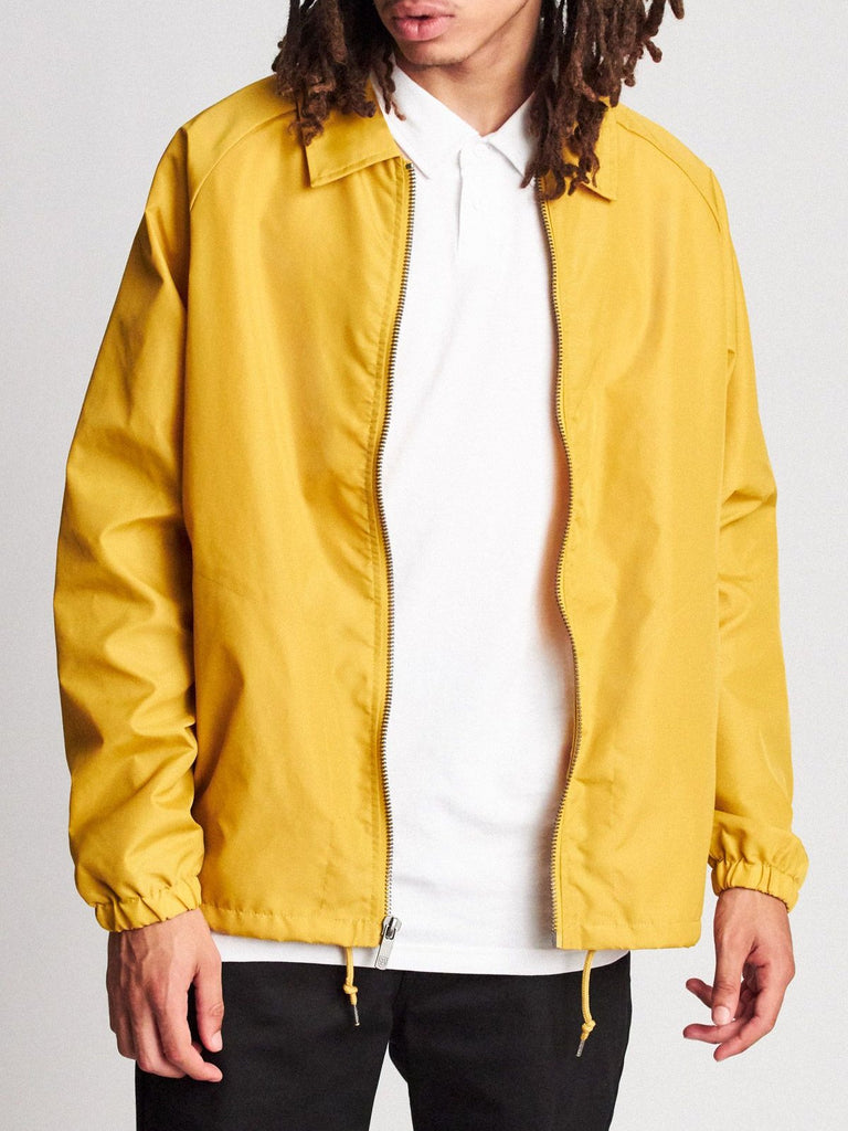 brixton claxton collar jacket nugget gold