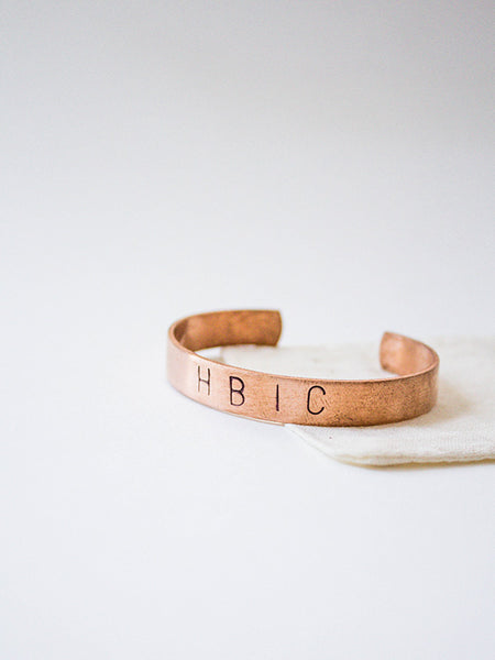 custom jewelry hand-stamped cuff bracelet copper rachael ray magazine everyday every day lyrics personalized